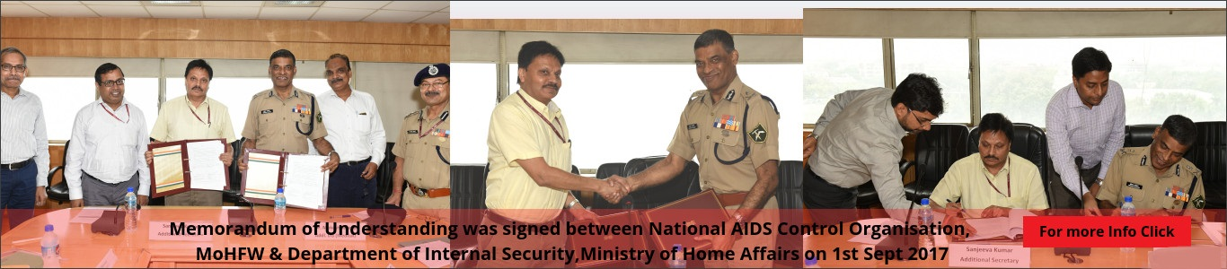 MoU signed between NACO and Ministry of Home Affairs